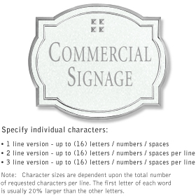 Salsbury 1540WSG2 Commercial Address Sign