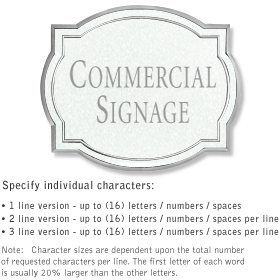 Salsbury 1540WSN2 Commercial Address Sign