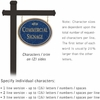 Salsbury 1532CGF2 Commercial Address Sign