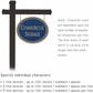 Salsbury 1532CGN1 Commercial Address Sign