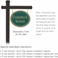 Salsbury 1532JGN2 Commercial Address Sign