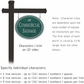 Salsbury 1532JSD2 Commercial Address Sign