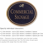 Commercial Wall Plaques - Oval 1-Sided