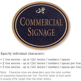 Commercial Wall Plaques - Oval 2-Sided