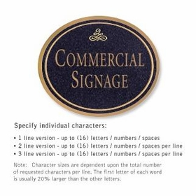 Salsbury 1530BGI Commercial Address Sign