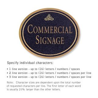 Salsbury 1530BGI2 Commercial Address Sign