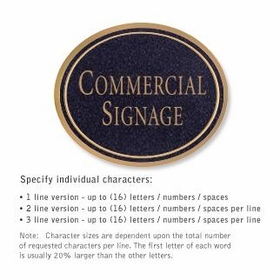 Salsbury 1530BGN Commercial Address Sign