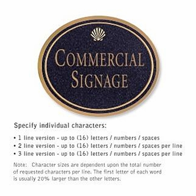 Salsbury 1530BGS Commercial Address Sign