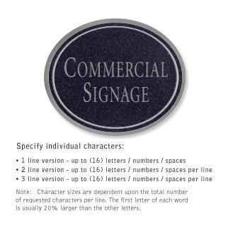 Salsbury 1530BSN Commercial Address Sign