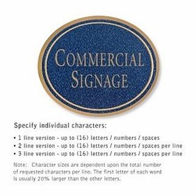 Salsbury 1530CGN Commercial Address Sign