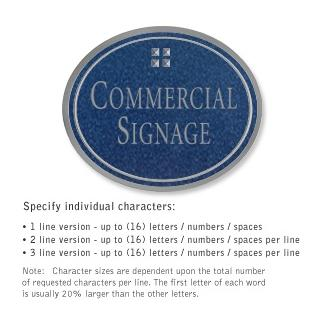 Salsbury 1530CSG2 Commercial Address Sign