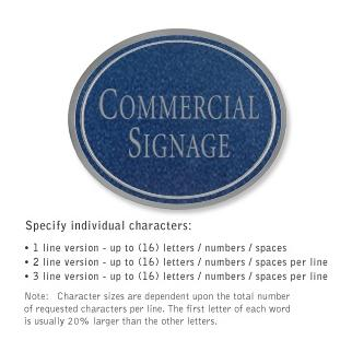 Salsbury 1530CSN Commercial Address Sign