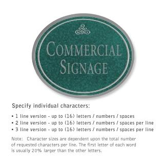 Salsbury 1530JSI2 Commercial Address Sign