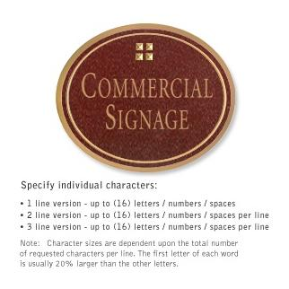 Salsbury 1530MGG Commercial Address Sign