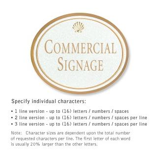 Salsbury 1530WGS2 Commercial Address Sign