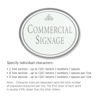 Salsbury 1530WSI2 Commercial Address Sign