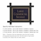 Salsbury 1512BGN1 Commercial Address Sign