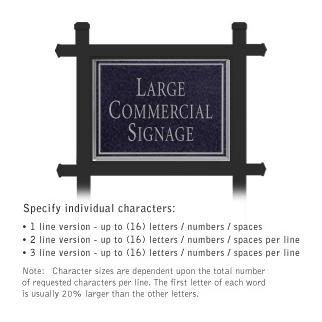 Salsbury 1512BSN1 Commercial Address Sign