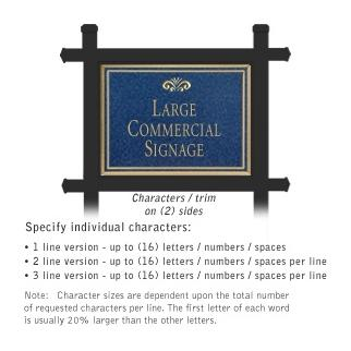 Salsbury 1512CGF2 Commercial Address Sign