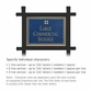 Salsbury 1512CGG1 Commercial Address Sign