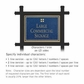 Salsbury 1512CGG2 Commercial Address Sign