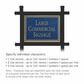 Salsbury 1512CGN1 Commercial Address Sign