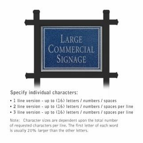 Salsbury 1512CSN1 Commercial Address Sign