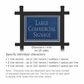 Salsbury 1512CSN2 Commercial Address Sign