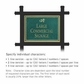 Salsbury 1512JGD1 Commercial Address Sign