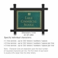 Salsbury 1512JGG2 Commercial Address Sign