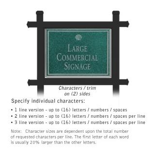 Salsbury 1512JSS2 Commercial Address Sign