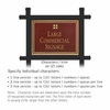 Salsbury 1512MGG2 Commercial Address Sign