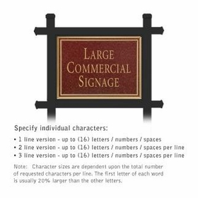 Salsbury 1512MGN1 Commercial Address Sign