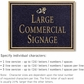 Salsbury 1510BGD Commercial Address Sign
