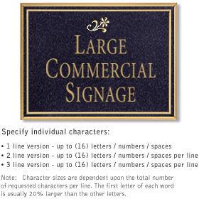 Commercial Wall Plaques - Rectangular 1-Sided