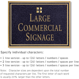 Salsbury 1510BGG Commercial Address Sign