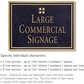 Salsbury 1510BGG2 Commercial Address Sign