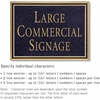Salsbury 1510BGN Commercial Address Sign