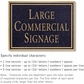 Salsbury 1510BGN2 Commercial Address Sign