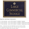 Salsbury 1510BGS Commercial Address Sign