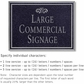 Salsbury 1510BSF Commercial Address Sign
