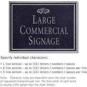 Salsbury 1510BSF2 Commercial Address Sign