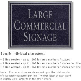 Salsbury 1510BSN Commercial Address Sign