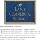 Salsbury 1510CGD2 Commercial Address Sign