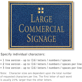 Salsbury 1510CGG2 Commercial Address Sign