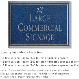 Salsbury 1510CSD Commercial Address Sign