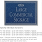 Salsbury 1510CSF Commercial Address Sign