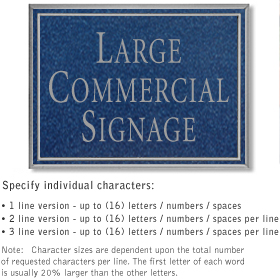 Salsbury 1510CSN Commercial Address Sign