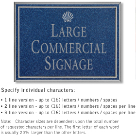 Salsbury 1510CSS2 Commercial Address Sign