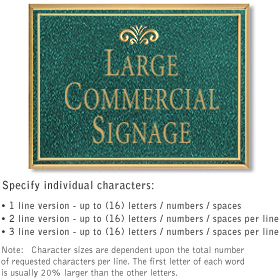 Salsbury 1510JGF2 Commercial Address Sign